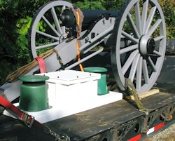 Outfitted full size No. 1 field carriage, click here for larger picture...